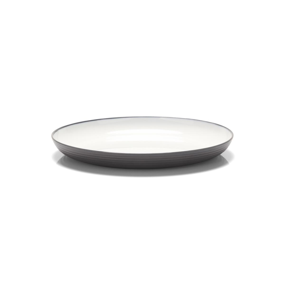 Assiette plate ronde blanc mélamine Ø 26 cm Wave Platex