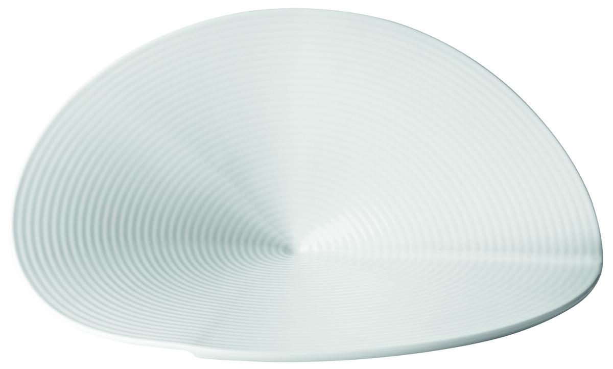 Assiette plate blanc porcelaine 18x29 cm Canopee Pillivuyt
