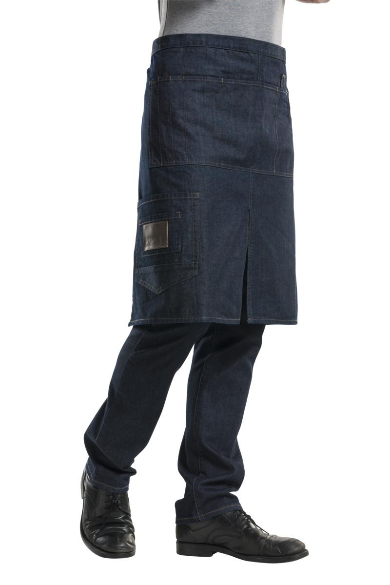 Tablier bleu taille unique Chaud Devant