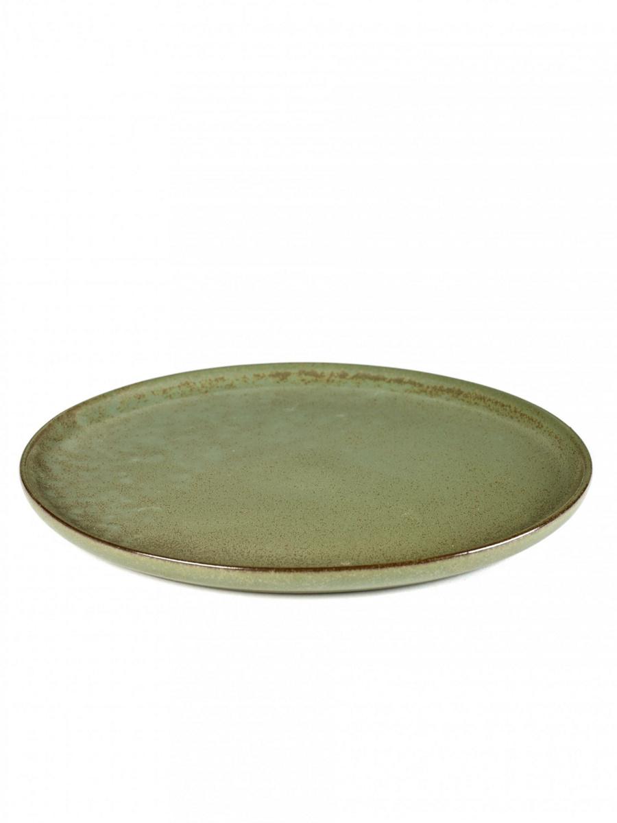 Assiette plate rond camogreen Surface Serax