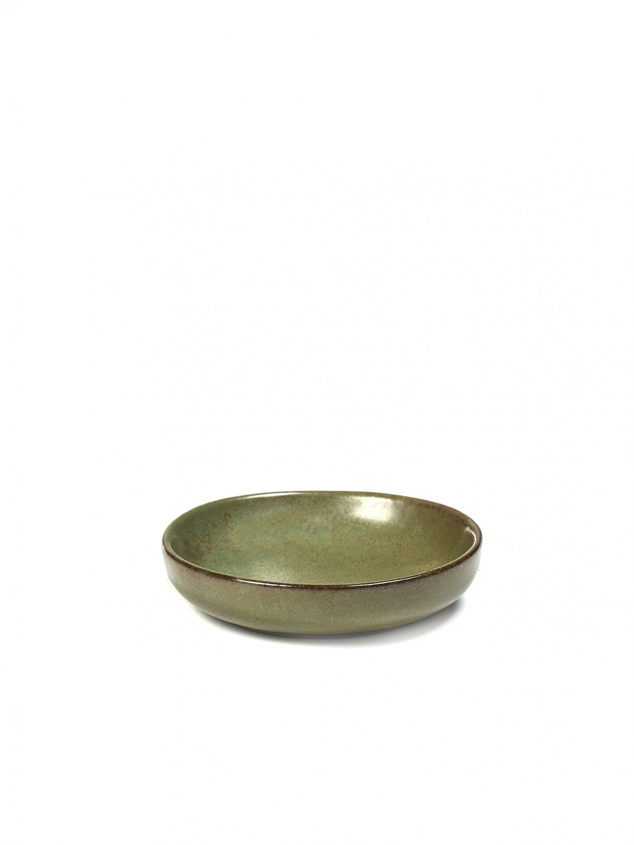 Assiette coupe creuse ronde camogreen grès Ø 9 cm Surface Serax