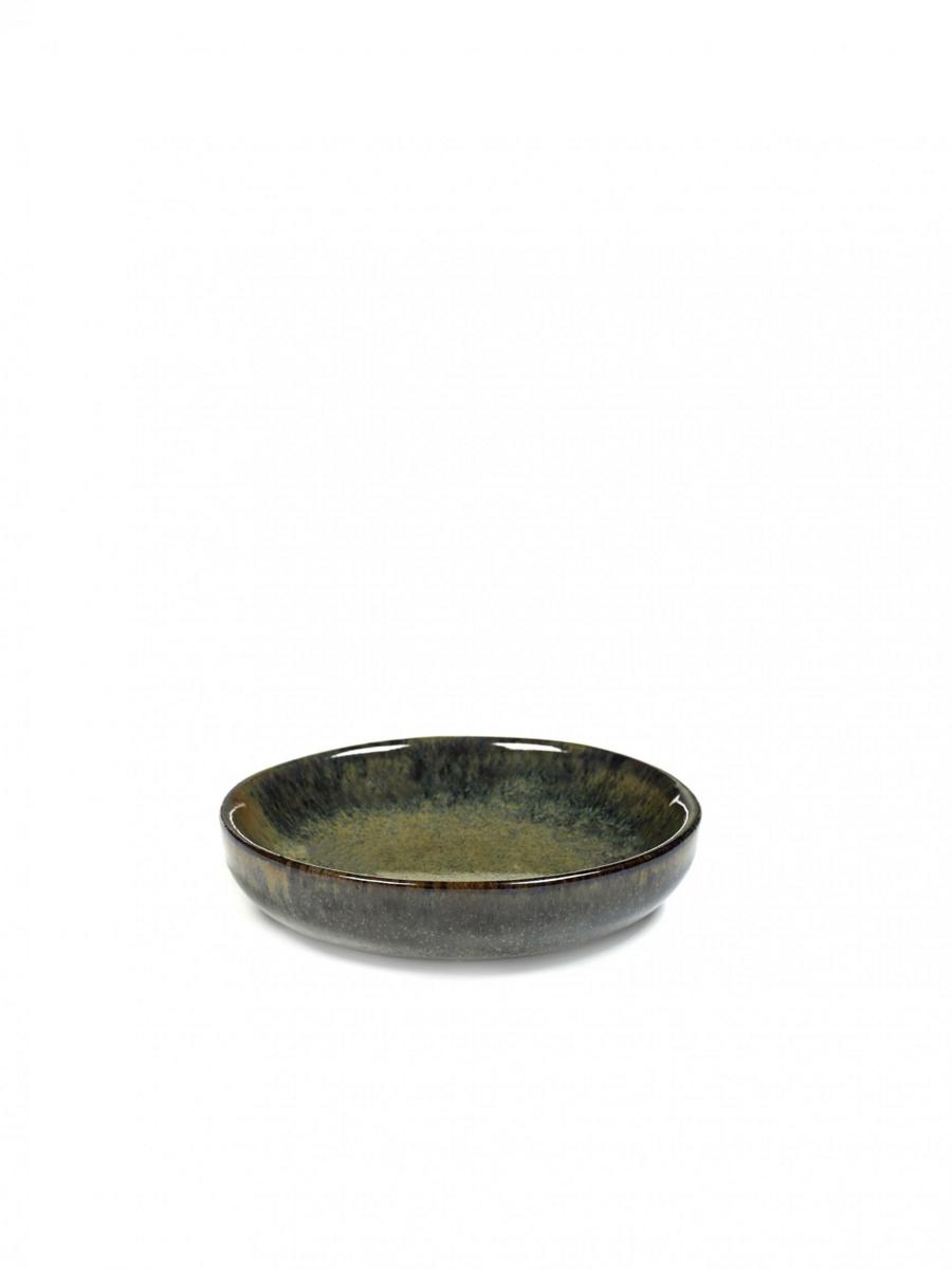 Assiette coupe creuse ronde indi grey grès Ø 9 cm Surface Serax