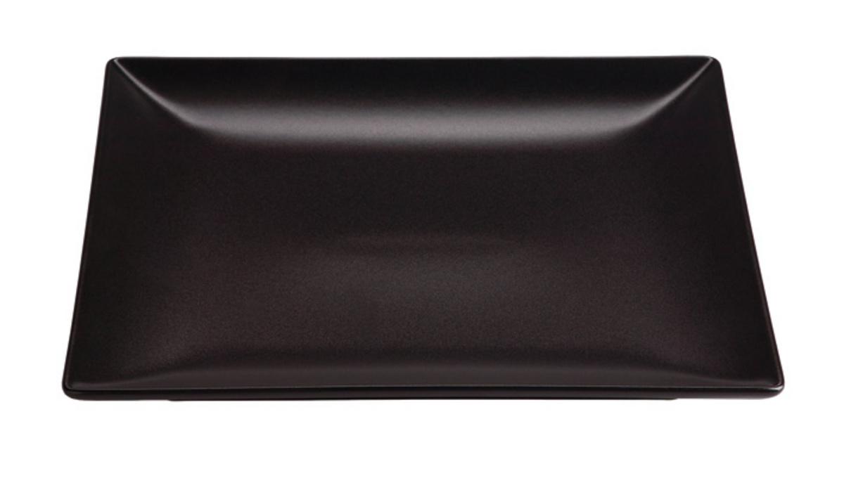 Assiette plate carré noir Bazik Noir