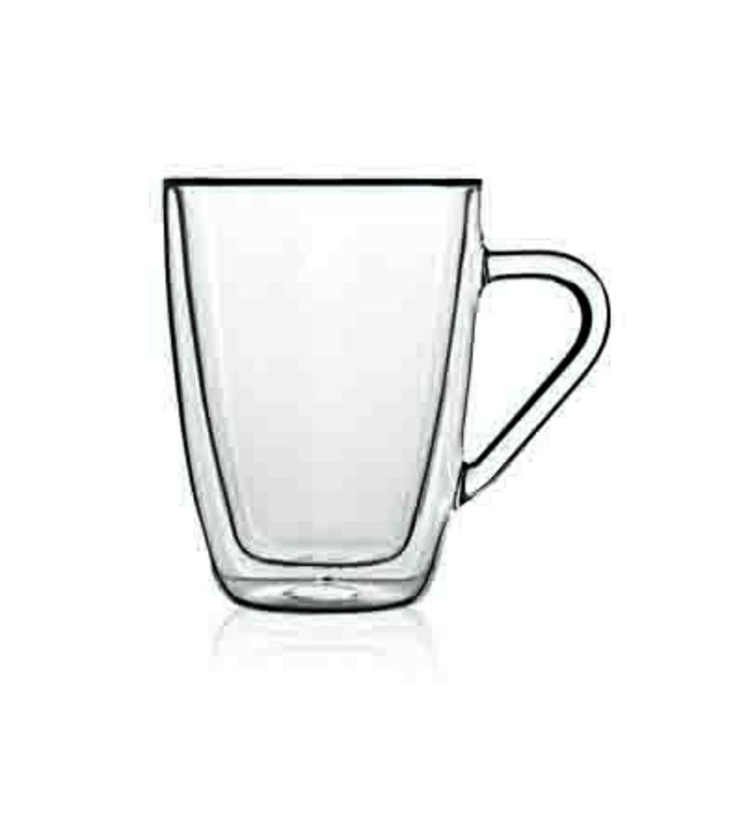 Mug rond transparent verre borosilicate 32 cl Ø 8,50 cm Thermic Glass Luigi Bormioli