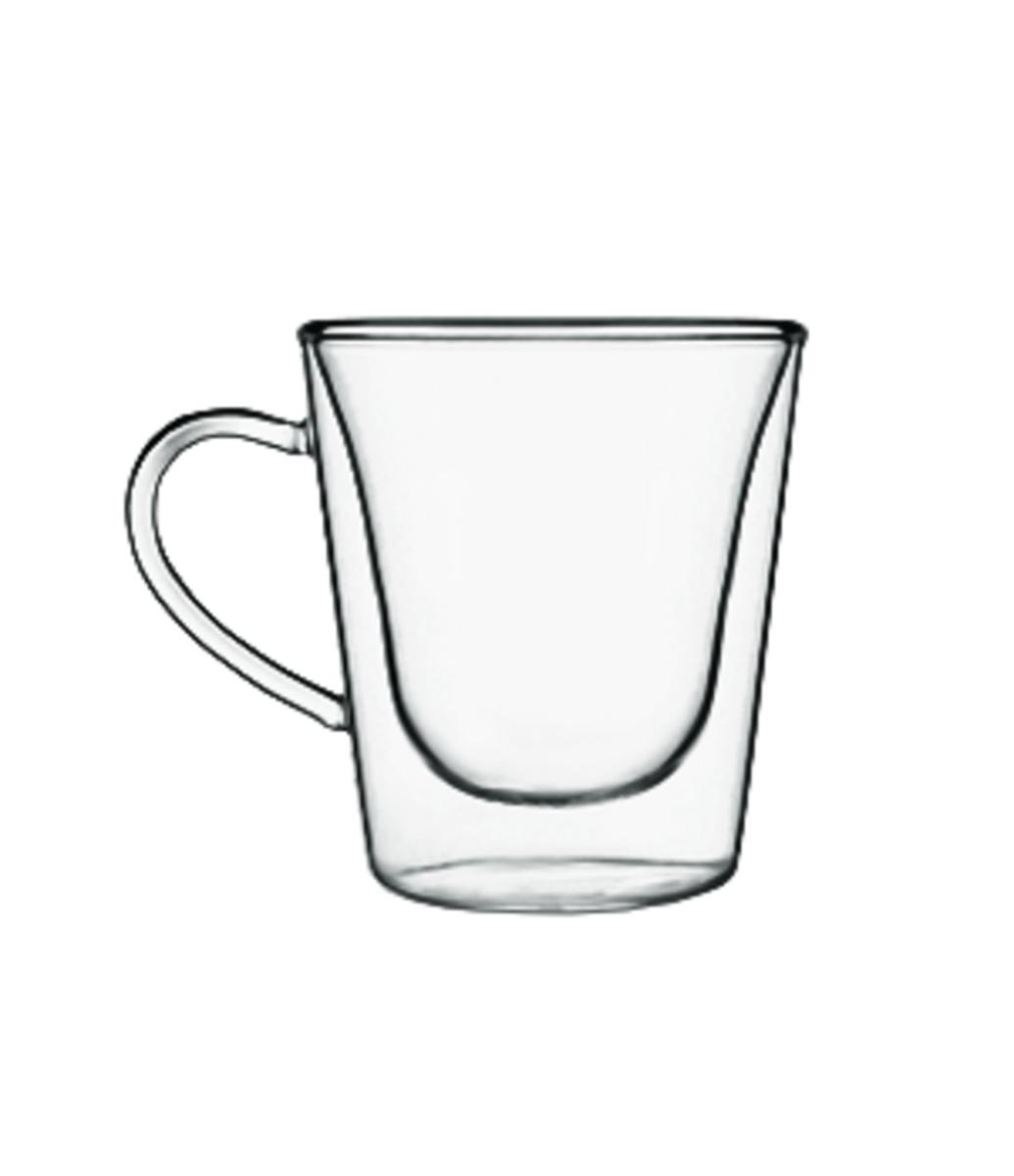 Tasse à café ronde transparente verre borosilicate 12 cl Ø 7 cm Thermic Glass Luigi Bormioli