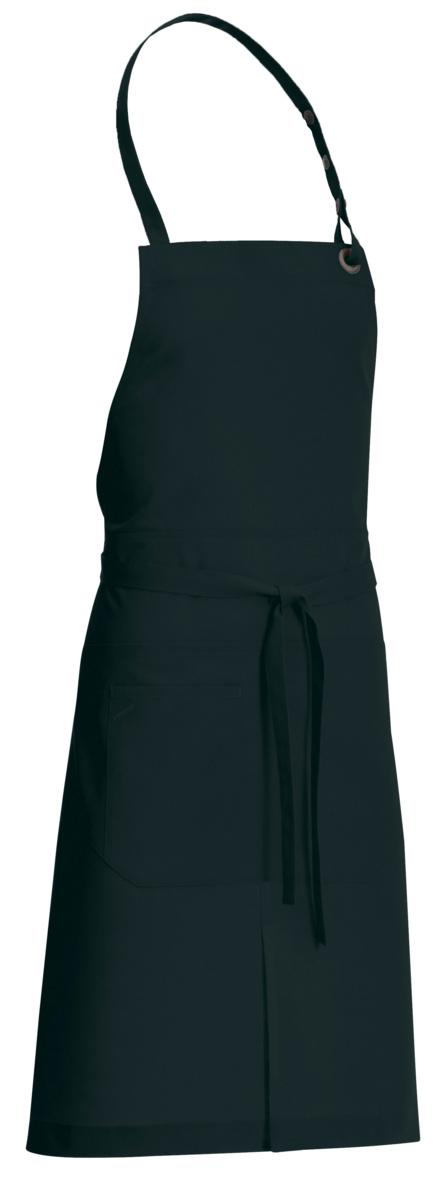 Tablier à bavette noir taille unique Dan Molinel