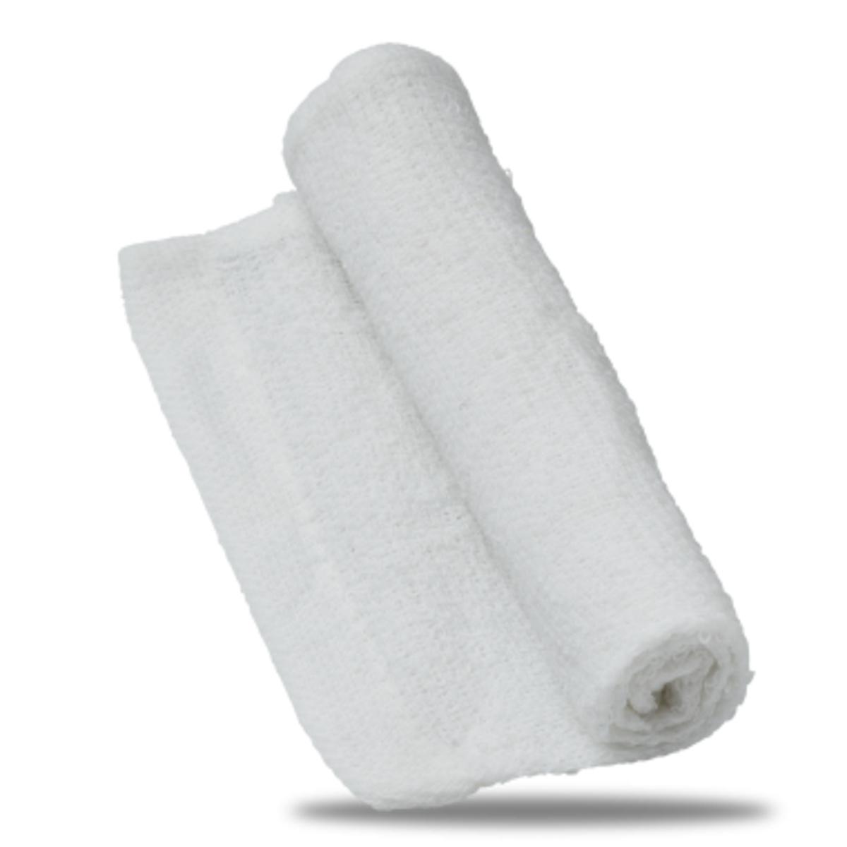 Carton 300 serviettes oshibori blanc tissu 13,20x17,70 cm Oshibori (300 pièces)