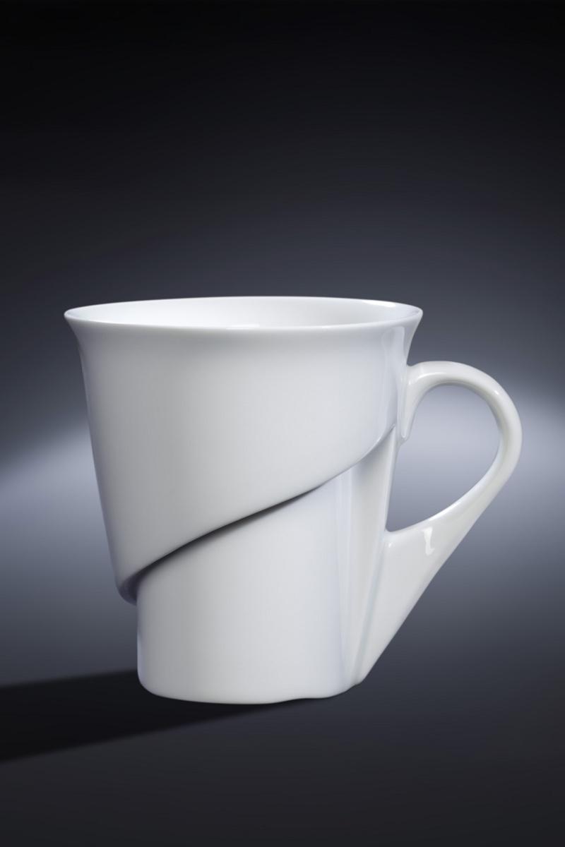 Tasse à expresso ronde blanc porcelaine 9 cl Ø 6,30 cm Delissea Rak