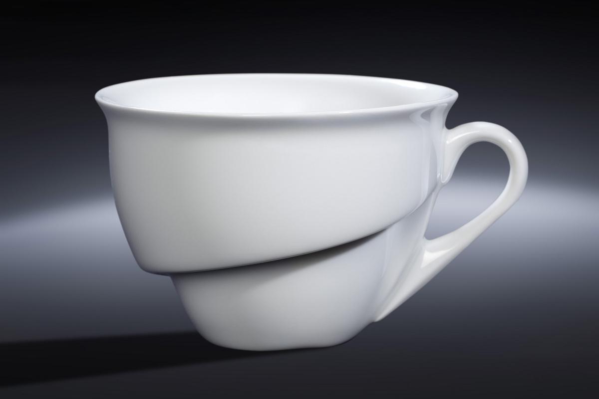 Tasse à thé/chocolat ronde blanc porcelaine 23 cl Ø 10,30 cm Delissea Rak