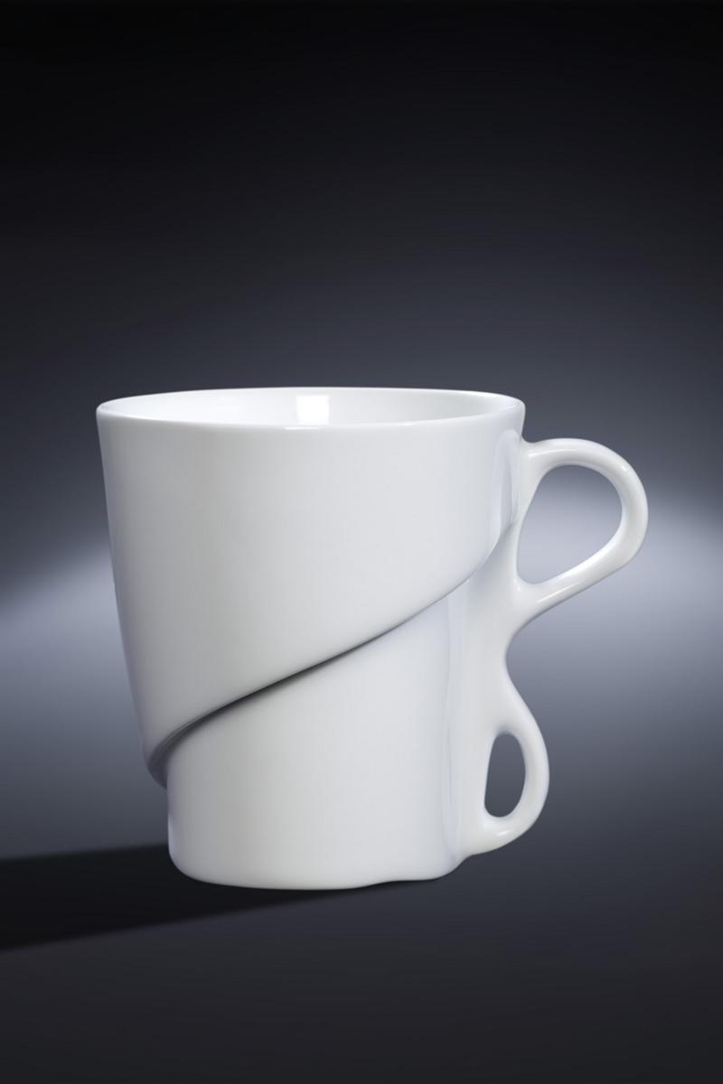 Mug rond blanc porcelaine 30 cl Ø 8,70 cm Delissea Rak