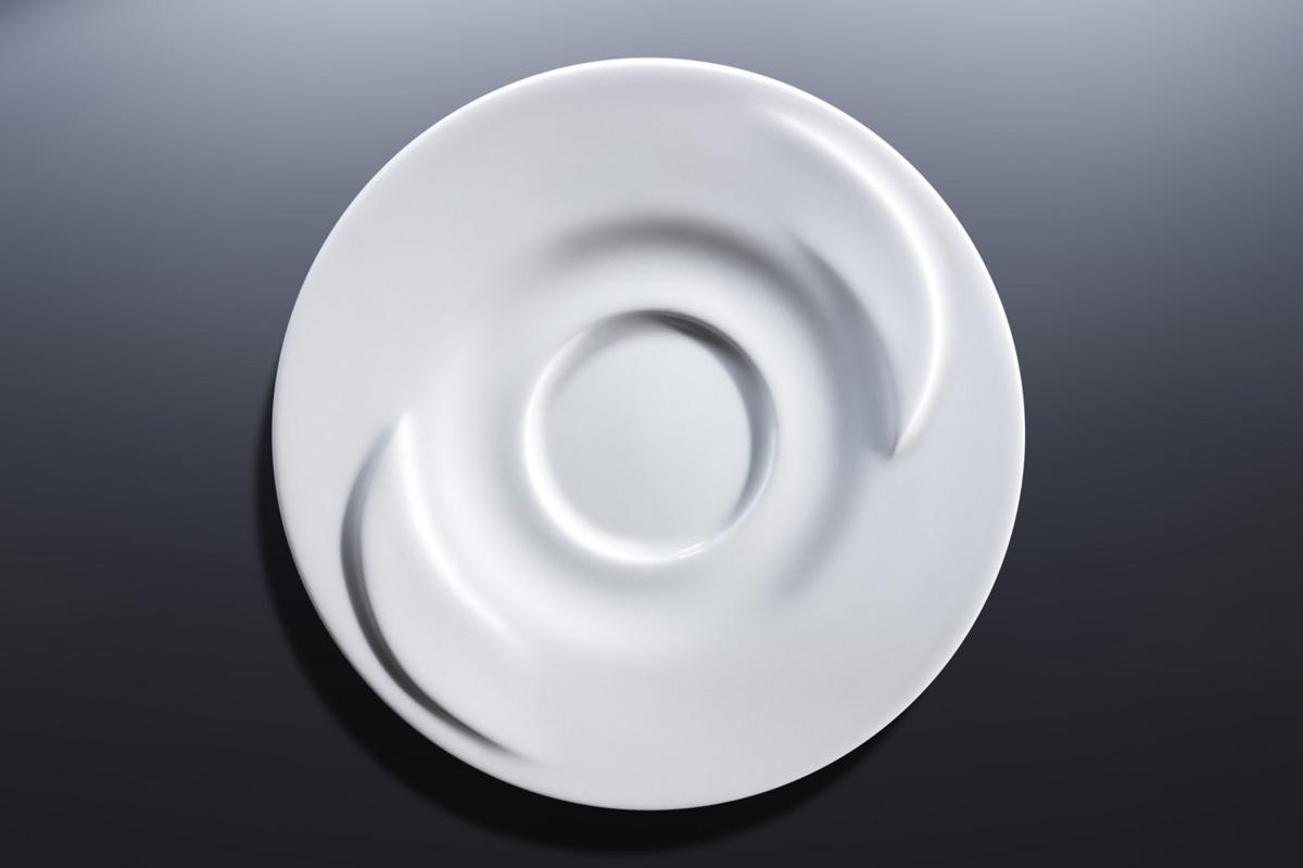 Sous-tasse à expresso ronde blanc porcelaine Ø 13 cm Delissea Rak