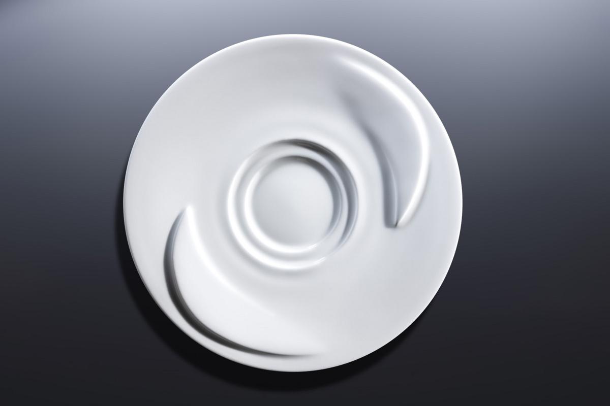Sous-tasse à café lungo ronde blanc porcelaine Ø 13 cm Delissea Rak