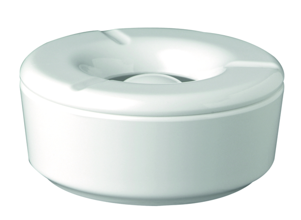 Cendrier anti-vent rond blanc Ø 11,50 cm 5 cm Aps