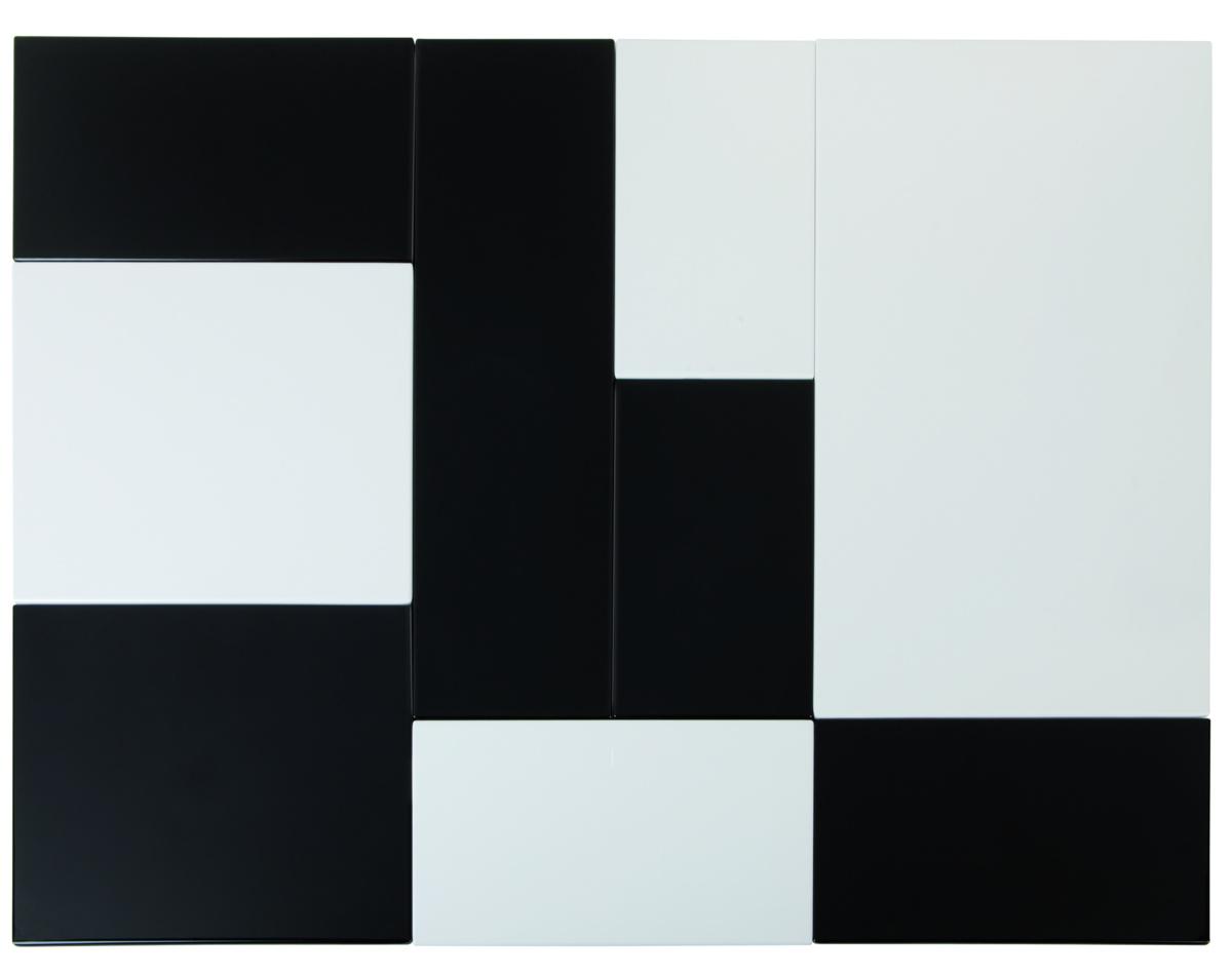 Plateau gn 2/4 rectangulaire noir mélamine 53 cm Zero Aps