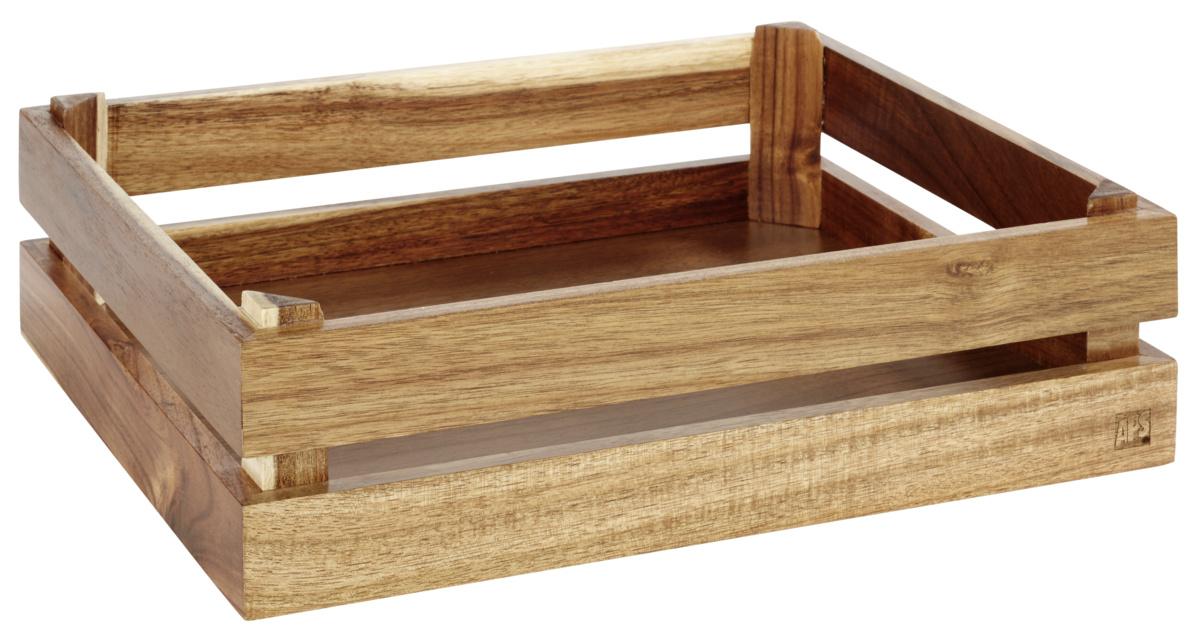 Caisse gn 1/2 rectangulaire bois 35 cm Superbox Aps