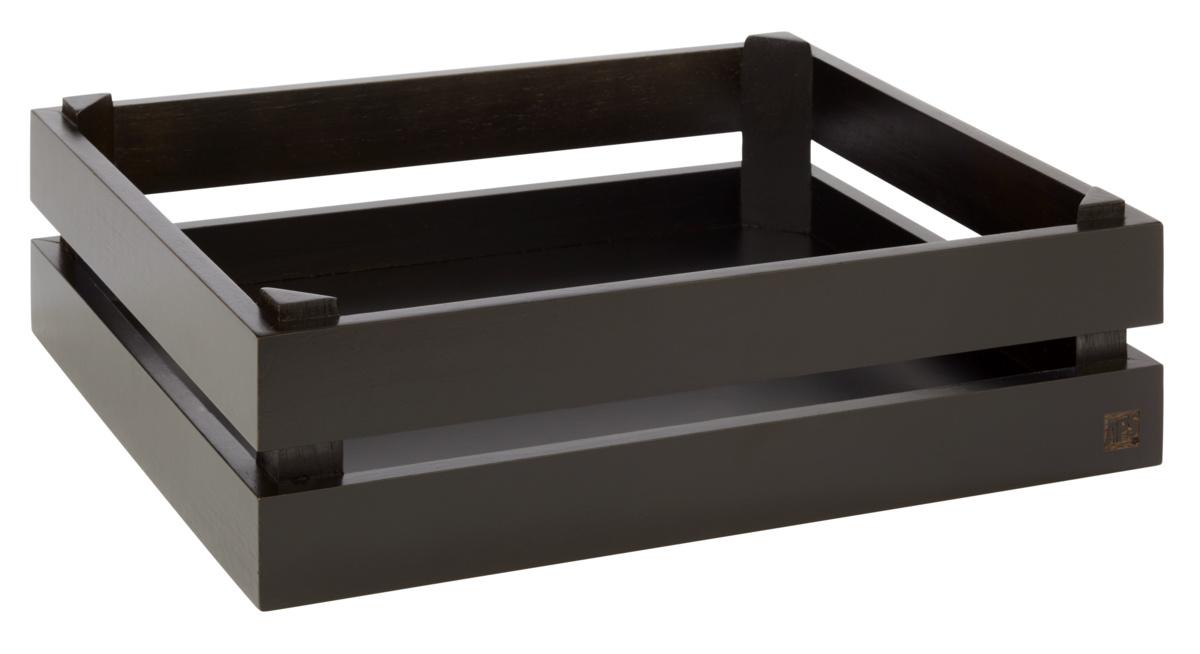 Caisse gn 1/2 rectangulaire brune bois 35 cm Superbox Aps