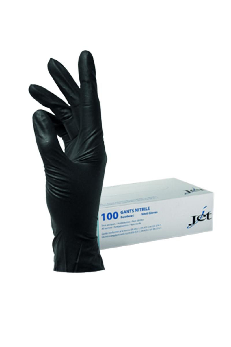 Gants nitrile noir taille xl (100 pièces)