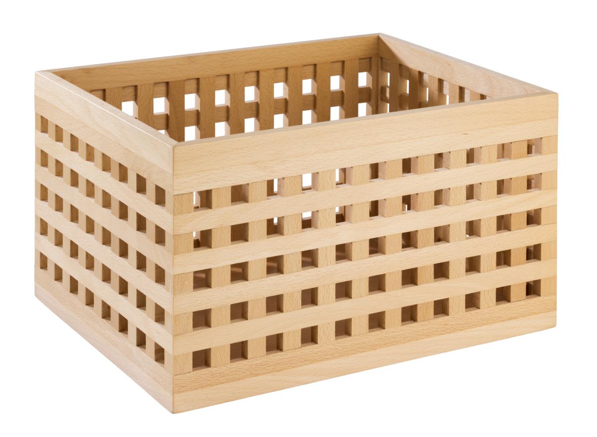 Boîte à pain rectangulaire bois 34 cm Aps
