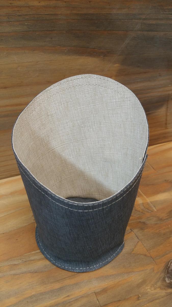 Corbeille ronde gris Ø 10 cm Sonoclean Sonolys