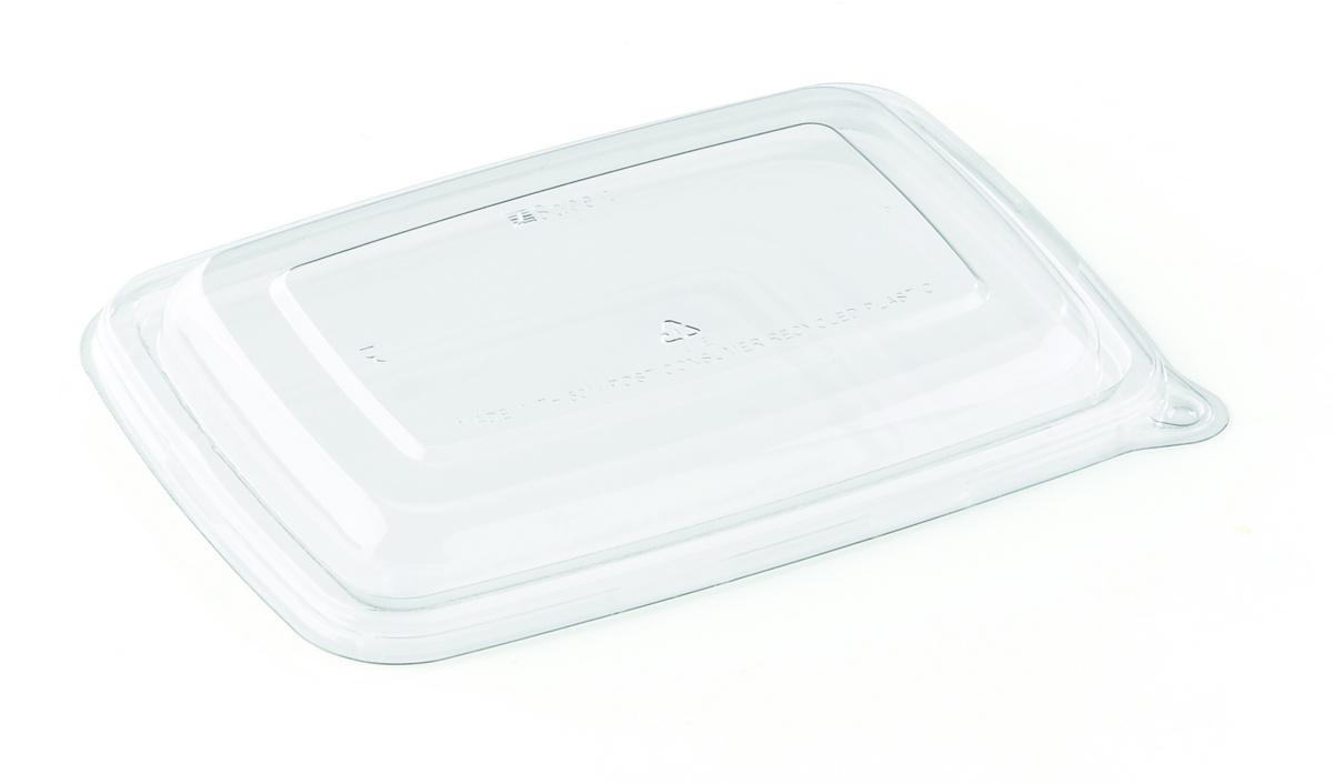 Couvercle pour barquette rectangulaire transparent 17,20x23,20 cm Be Pulp Sabert (75 pièces)