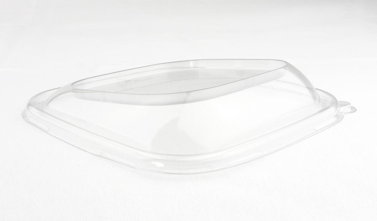 Couvercle pour saladier incliné carré transparent 19,20x19,20 cm Be Pulp Sabert (50 pièces)