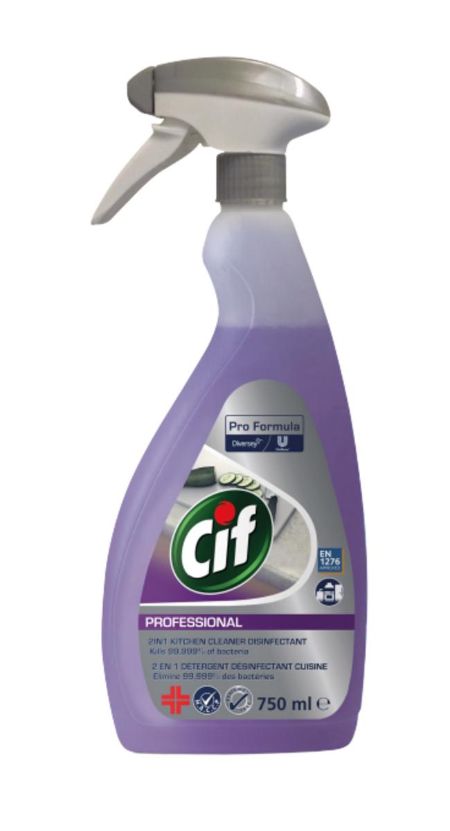 Nettoyant dégraissant désinfectant 750 ml Cif