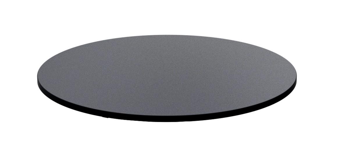 Plateau rond noir verre Ø 32 cm Evento Degrenne