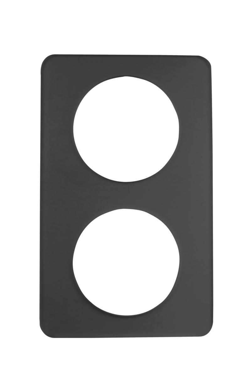 Plateau gn 1/1 rectangulaire noir plastique 53 cm Evento Degrenne