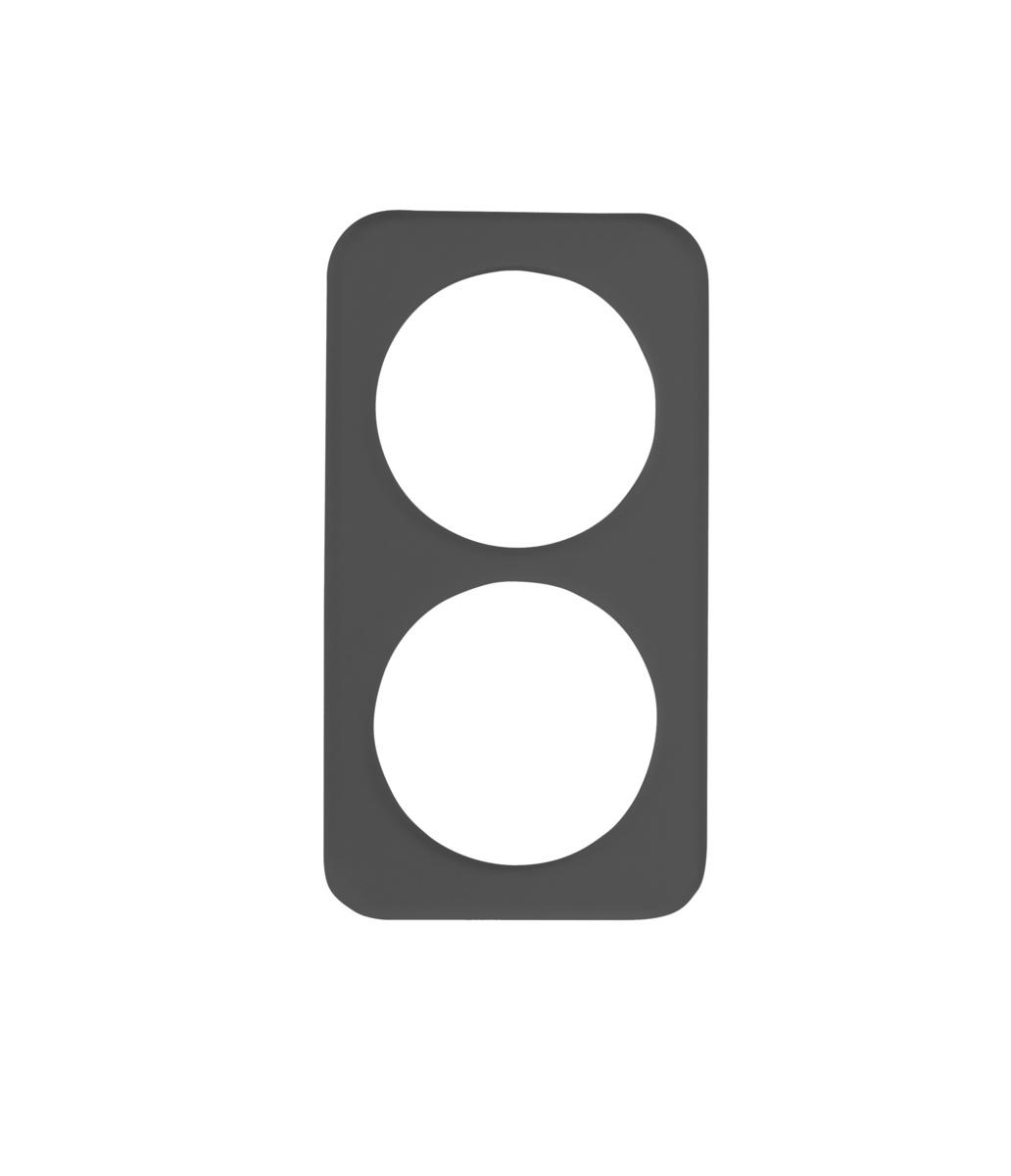 Plateau gn 1/3 rectangulaire noir plastique 32,50 cm Evento Degrenne