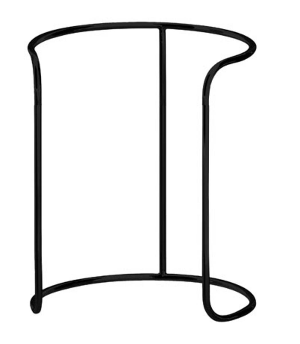 Support haut rond noir acier Ø 25 cm Evento Degrenne