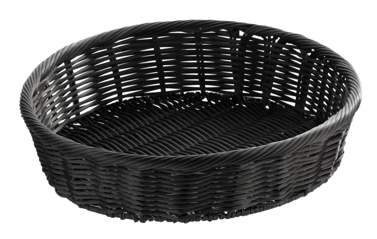 Panière ronde noire Ø 32 cm 8 cm Evento Degrenne