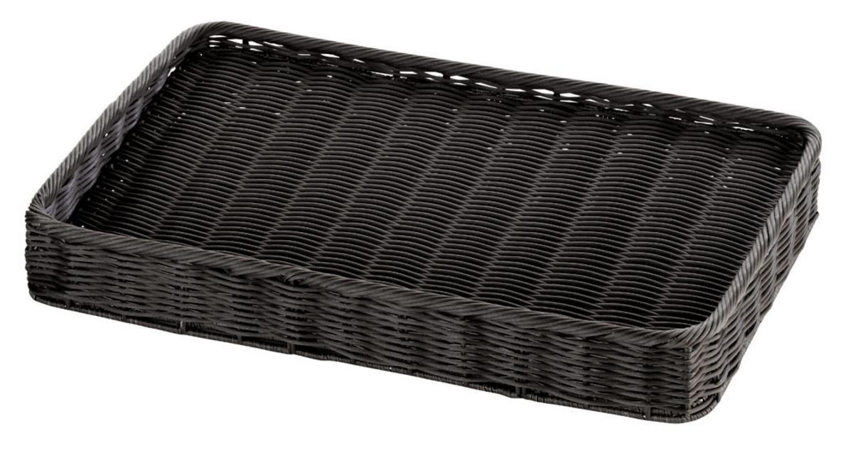 Panière rectangulaire noire 34x54 cm 8 cm Evento Degrenne