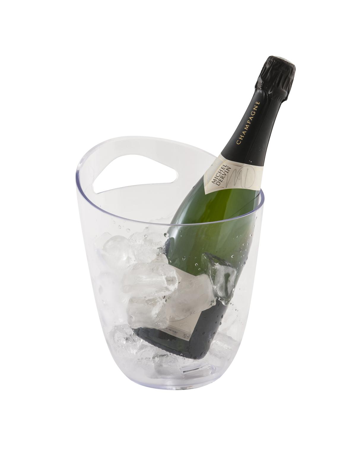 Seau à bouteille transparent 20,50 cm 3 cl Pro.mundi