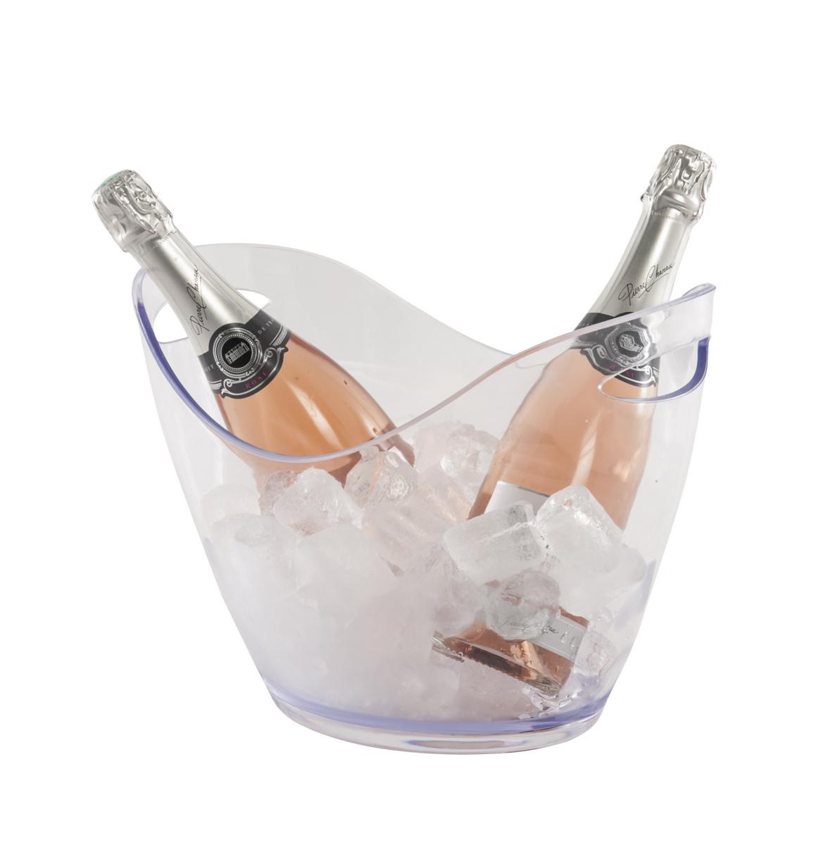 Vasque à bouteille transparente 35 cm 8 l Pro.mundi
