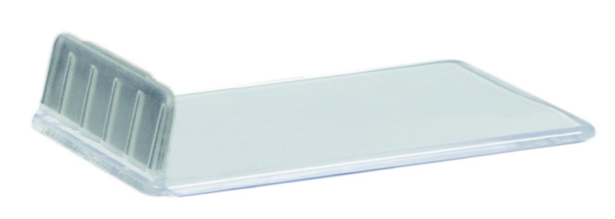 Support ardoise rectangulaire transparent 1x4 cm Securit (10 pièces)