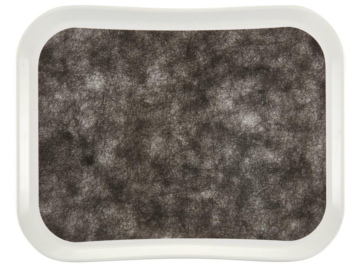 Plateau noir polyester bord profilé Versatray Cambro
