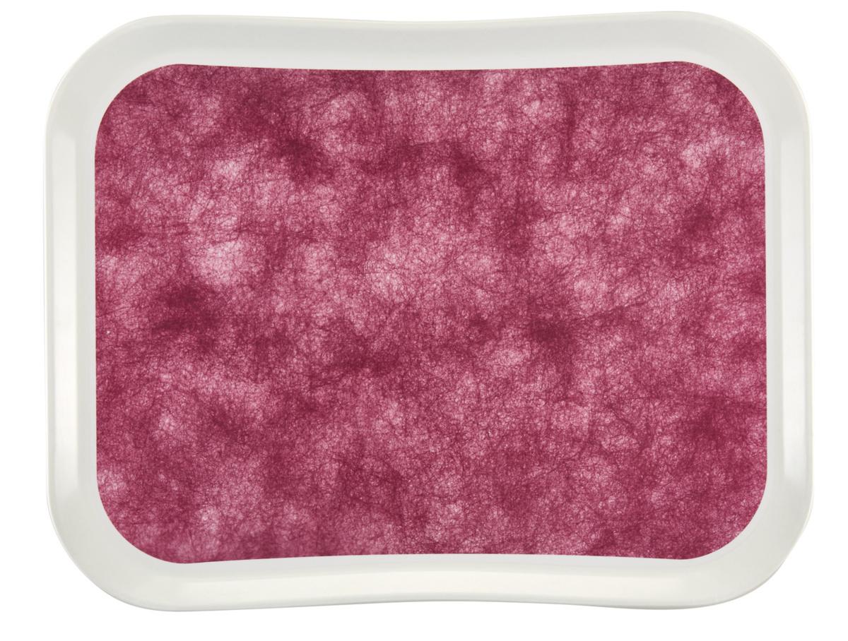 Plateau rouge polyester bord profilé Versatray Cambro