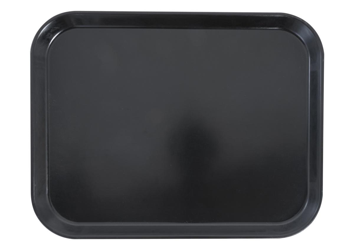Plateau noir polyester bord droit Versatray Cambro