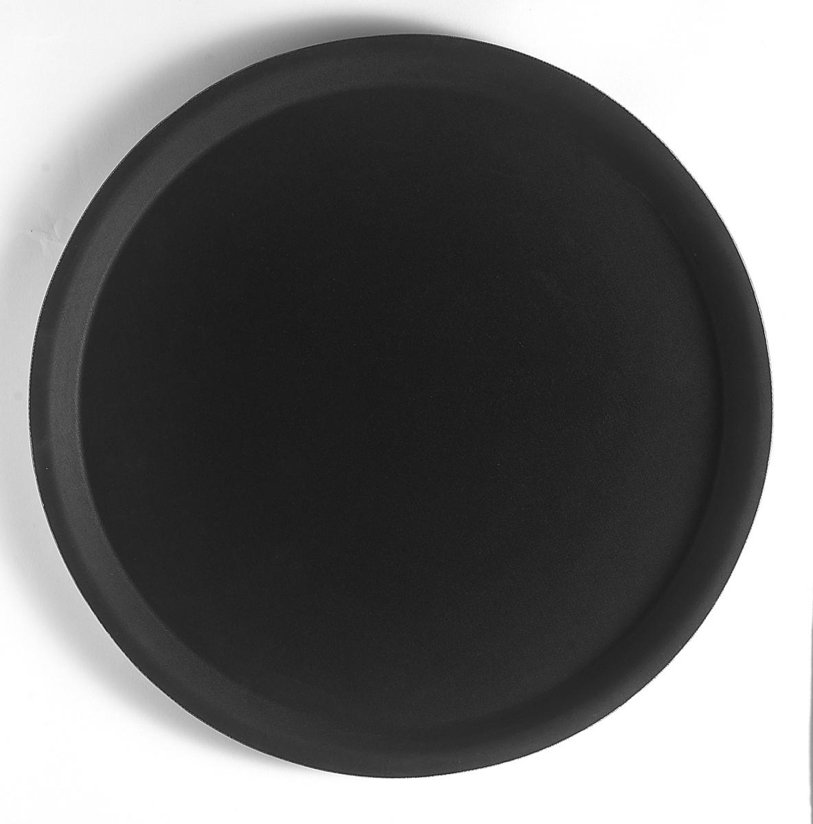 Plateau anti-dérapant rond noir plastique bord droit Camtread Cambro