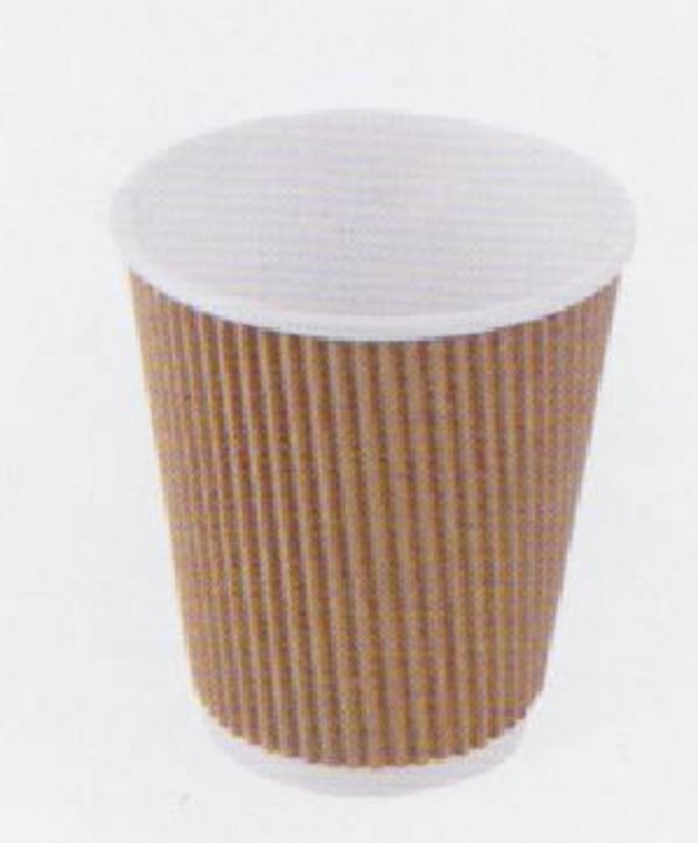 Gobelet double paroi carton 12 cl Hot Cup Huhtamaki (25 pièces)