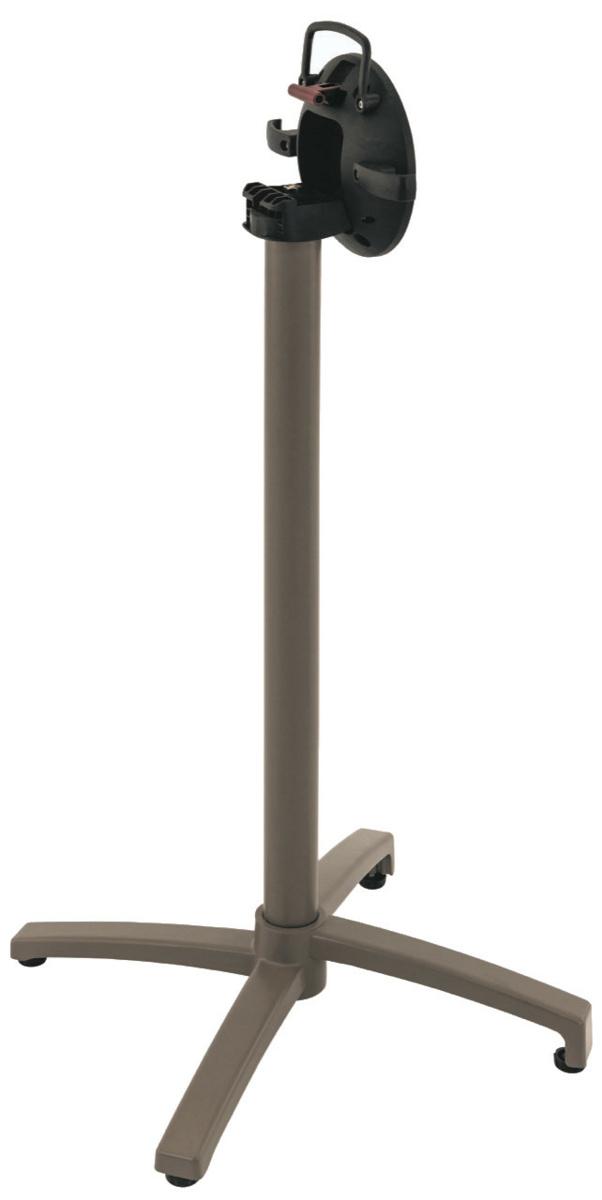 Pied de table bar taupe 67x67 cm Verona