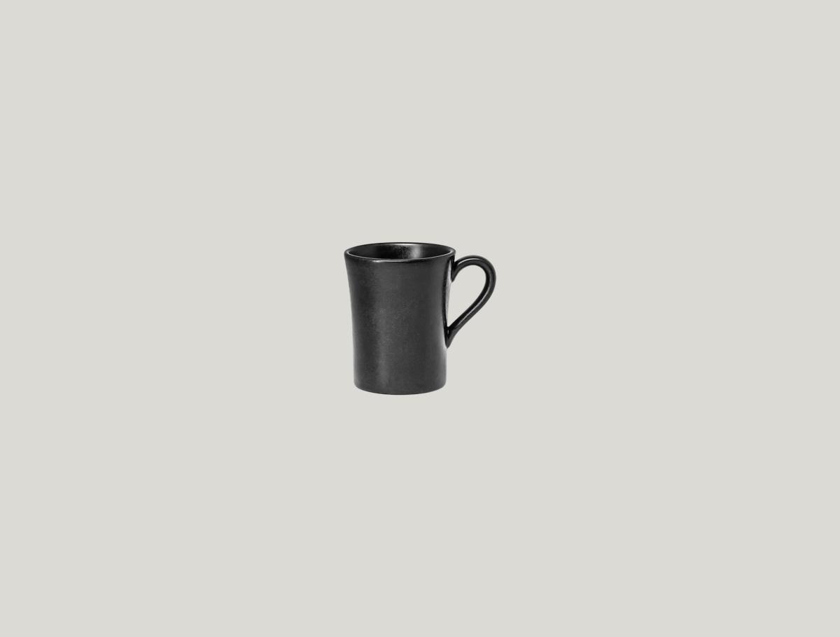 Tasse à expresso ronde noire porcelaine 9 cl Ø 5,80 cm Edge Rak