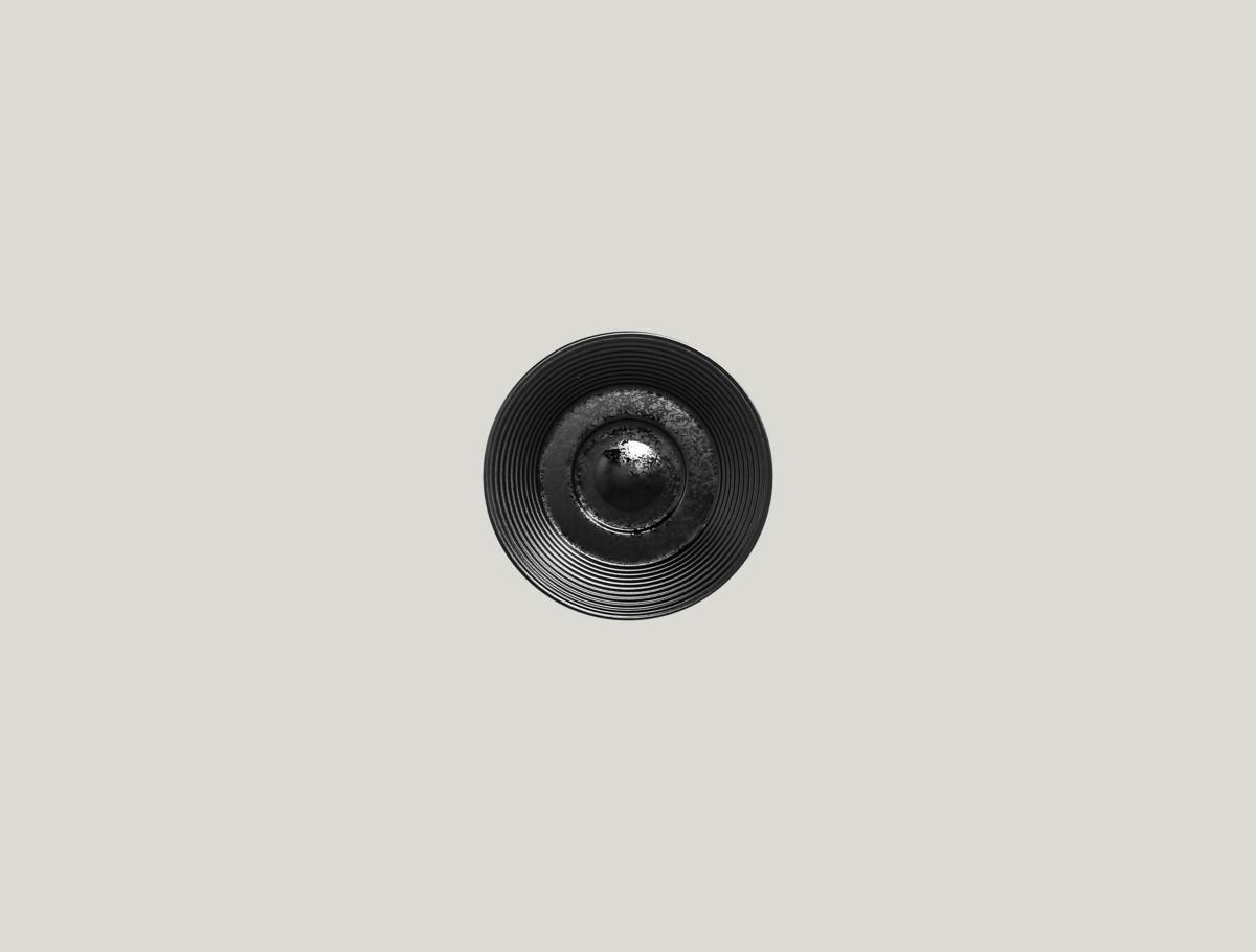 Sous-tasse à expresso ronde noire porcelaine Ø 13 cm Edge Rak