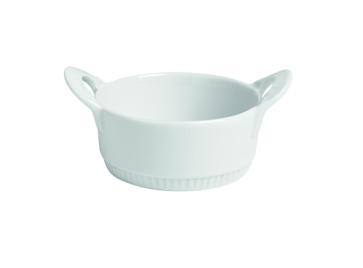 Cocotte sans couvercle ronde blanc porcelaine Ø 11 cm Toulouse Pillivuyt
