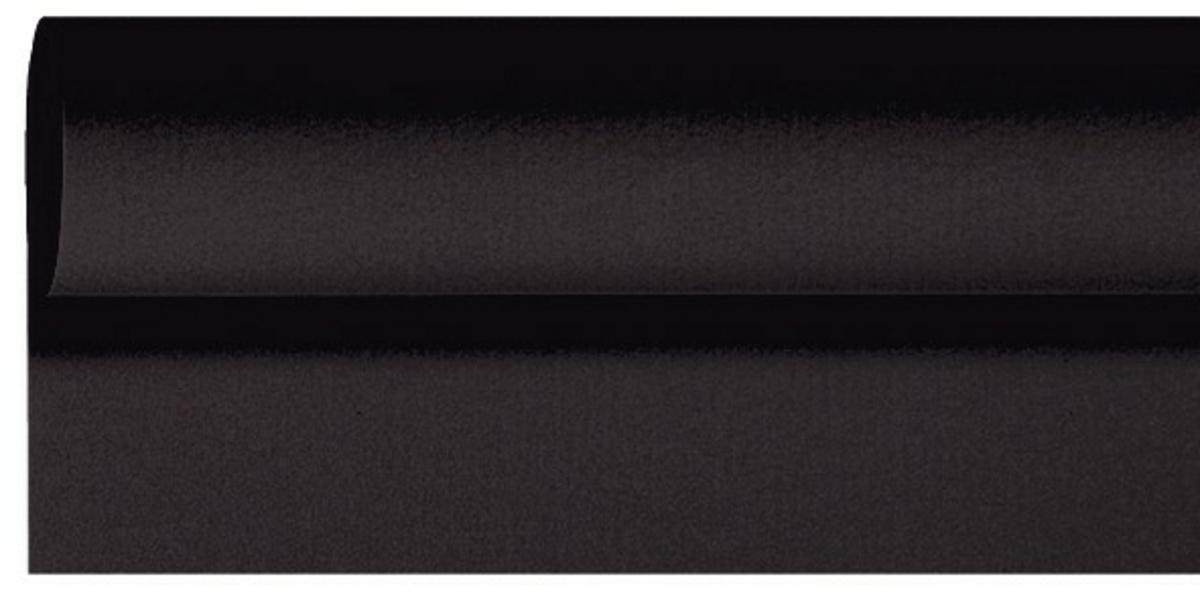 Rouleau de nappe noir non tissé 1,18x10 m Dunilin Duni
