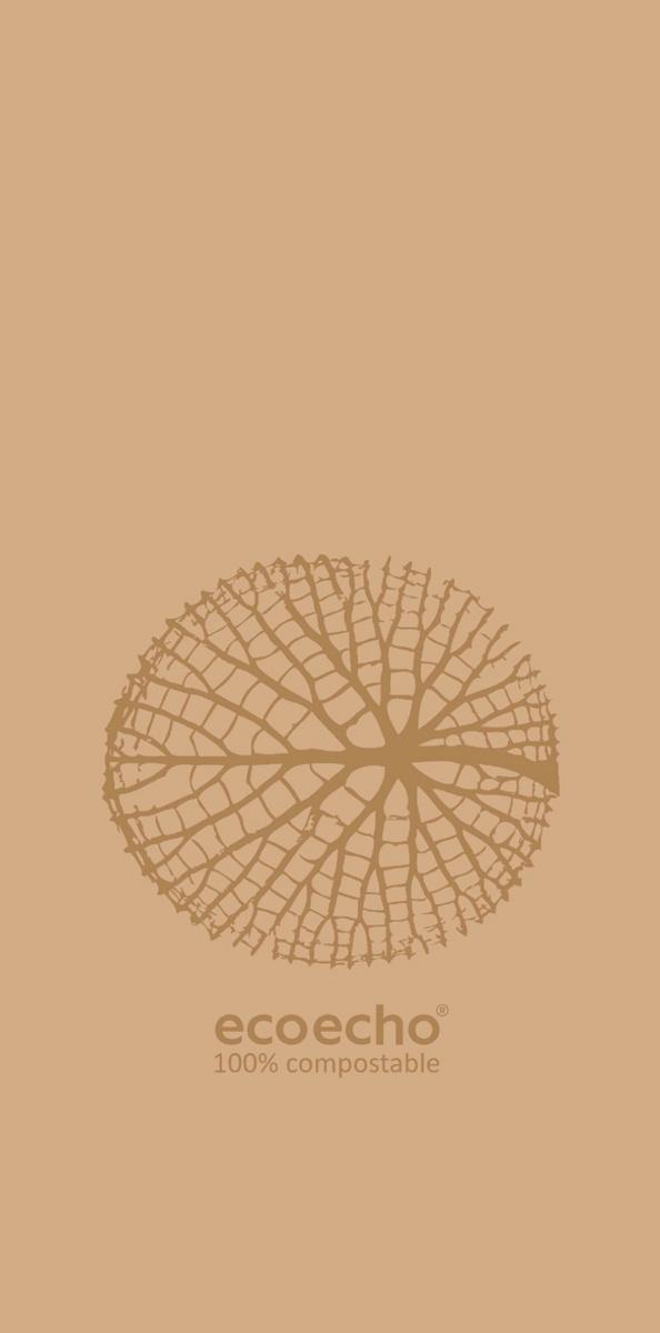 Serviette marron ouate de cellulose 20x40 cm Organic Duni (300 pièces)
