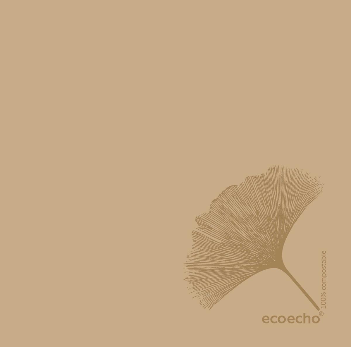 Serviette marron non tissé 40x40 cm Organic Duni (60 pièces)