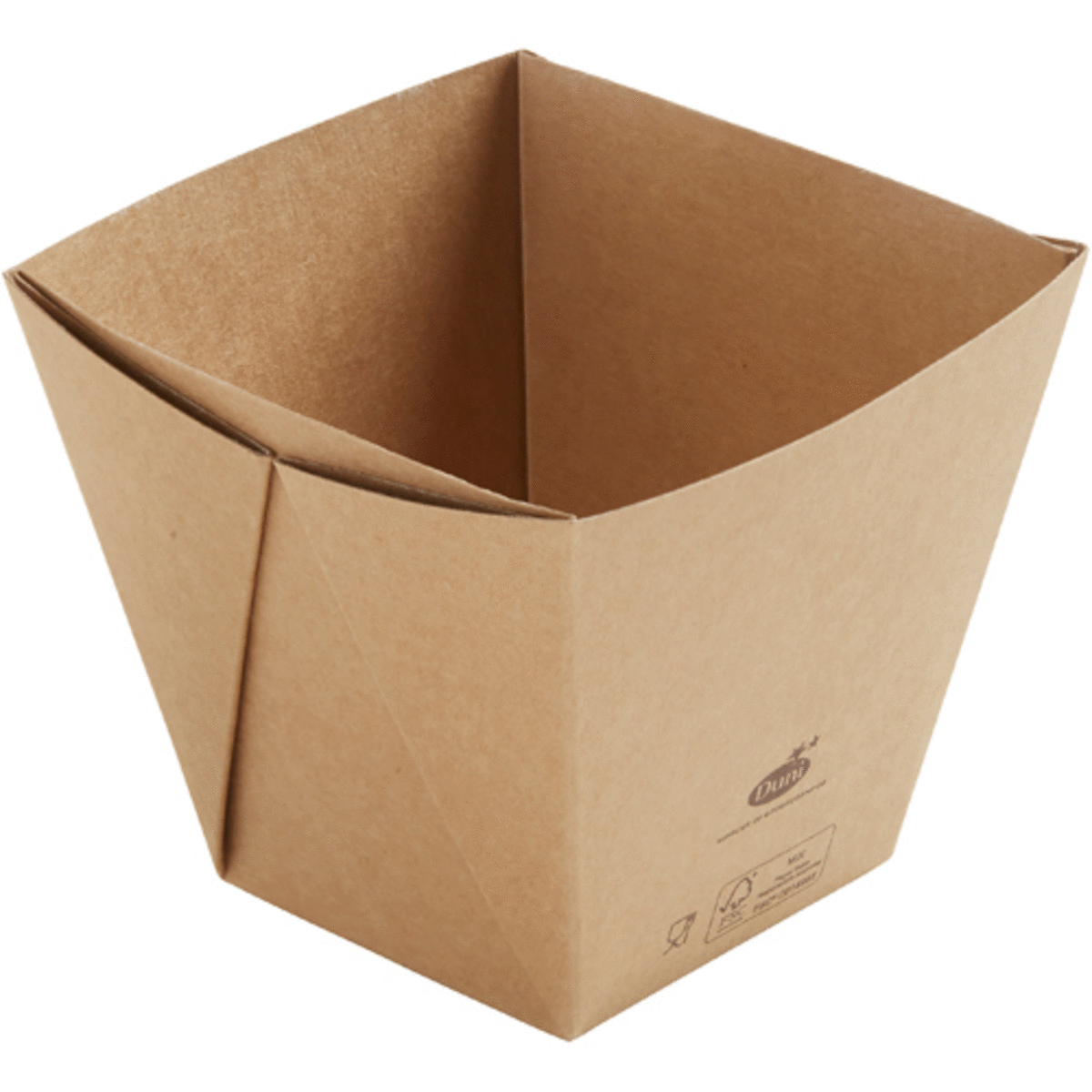 Boîte carrée marron 11,30x11,30 cm 82 cl Viking Duni (300 pièces)
