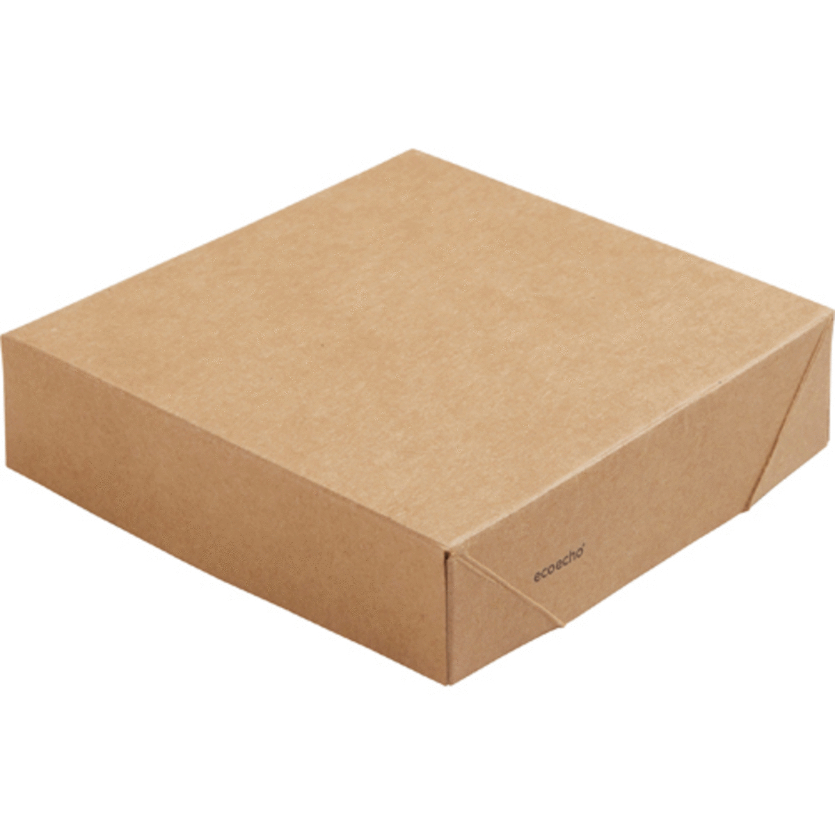 Couvercle pour boîte 51/82 cl rectangulaire marron 11,30x11,30 cm Viking Duni (300 pièces)