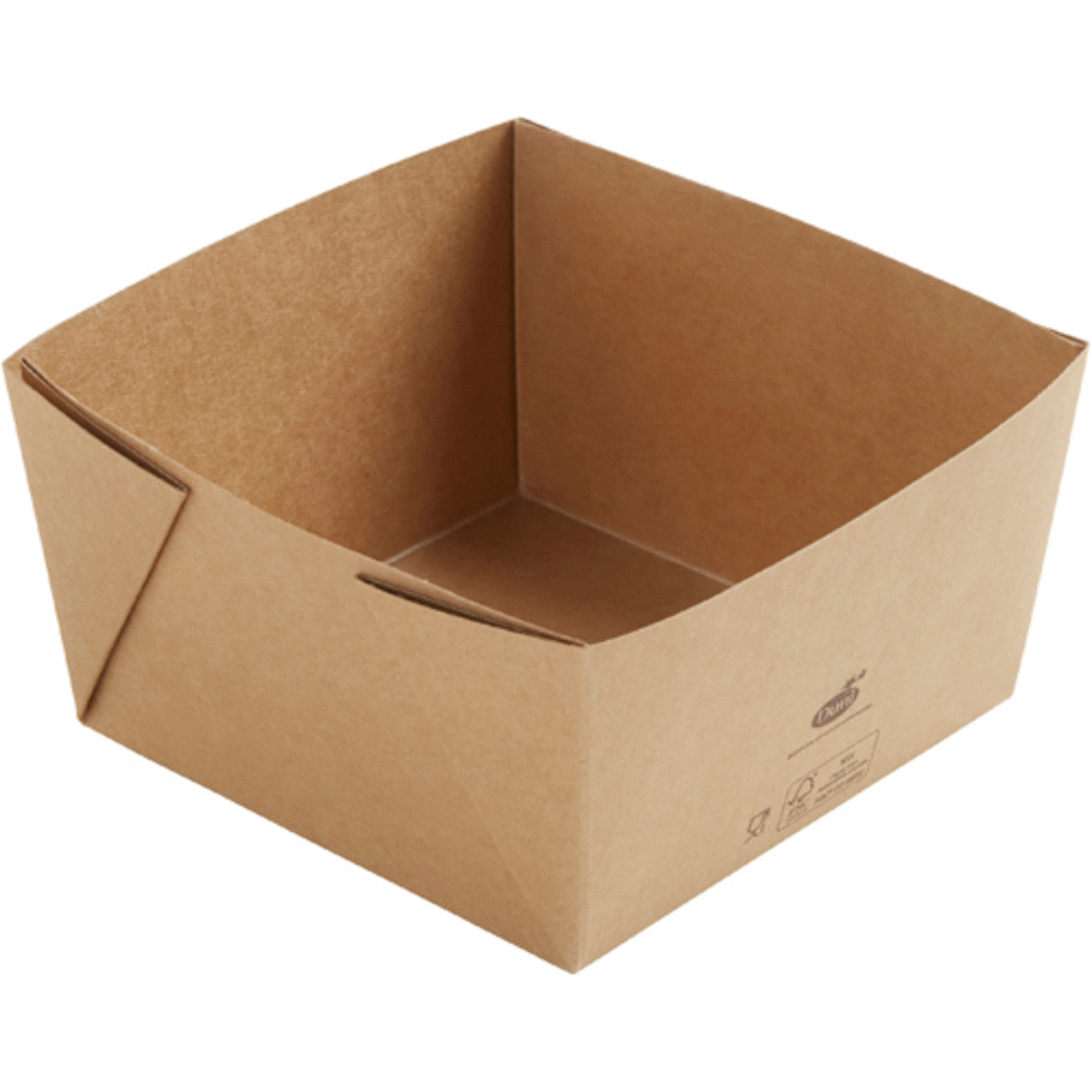 Boîte rectangulaire marron 14x14 cm 120 cl Viking Duni (300 pièces)